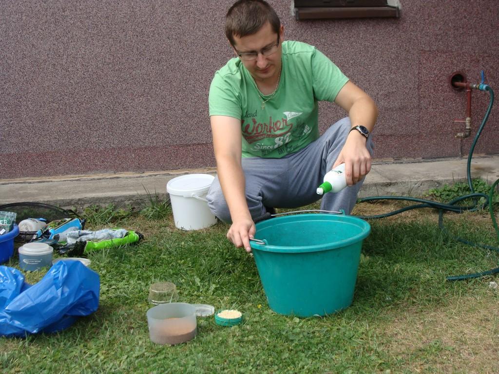 przygotowanie robaków